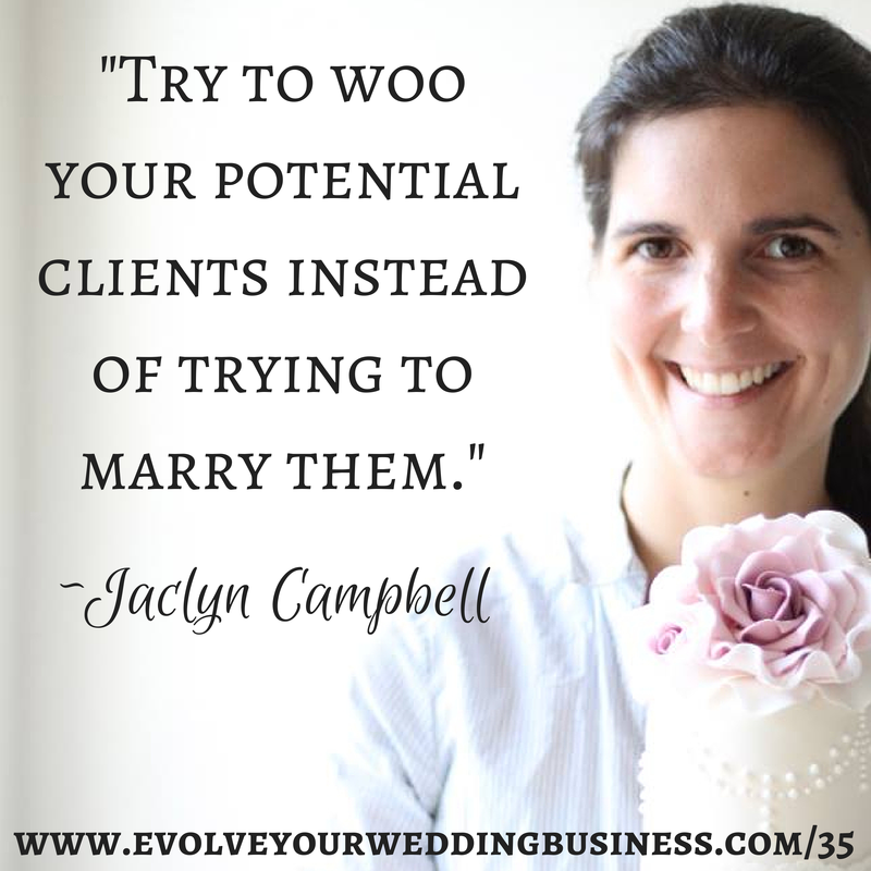 jaclyn - try to woo potential clients