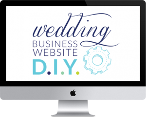 wedding business website DIY
