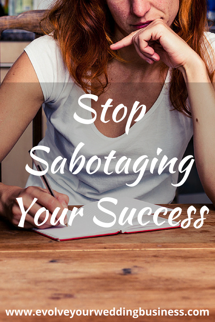 stop sabotaging your success in your wedding business with Amy Zellmer