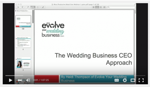 The Wedding Business CEO Approach