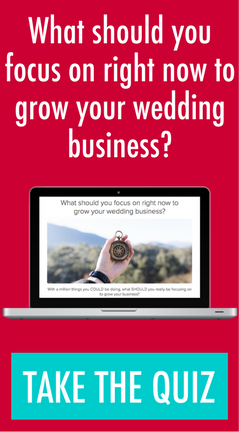What should you focus on to grow your wedding business?