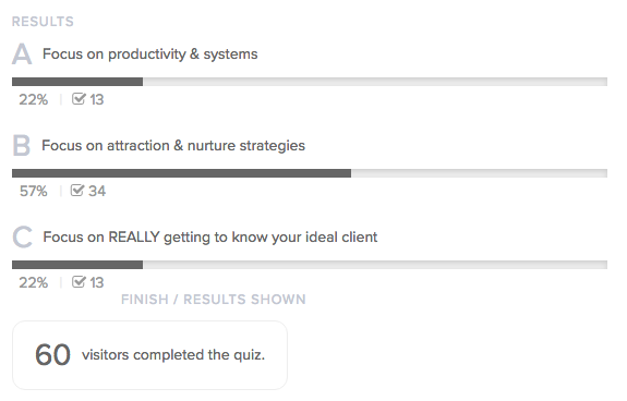 Interact quiz results