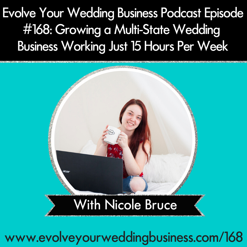 Evolve Your Wedding Business Podcast Episode #168_ Growing a Multi-State Wedding Business Working Just 15 Hours Per Week with Nicole Bruce - Square